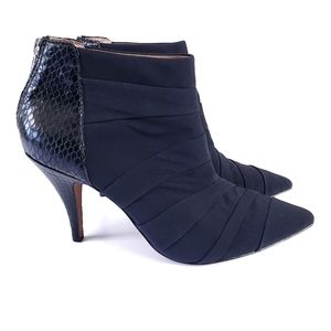 Donald Pliner Turk High Heel Pleated Ankle Booties
